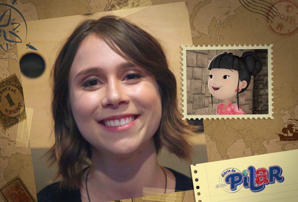 Daphne Bozaski e a personagem que interpretou em Diario de Pilar