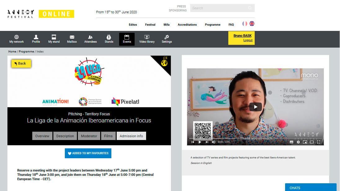 Festival de Annecy Online - Saiba como foi o Pitching virtual que realizamos de Pipas 2  - Mono Animation